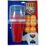 High Quality Plastic Beer Pong Set/Funny Beer Pong Set