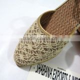 Beautiful Heavy Party Shoes Wedge Flat Bellies Indian Footwear