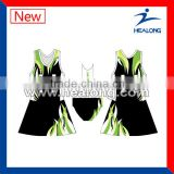 2013 new style sublimated wholesale netball uniform