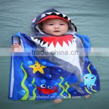 Organic cotton custom printed kids hooded towel                                                                                                         Supplier's Choice