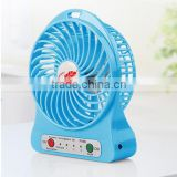 rechargeable mini table fan with USB charger,Battery Charger Table Fan