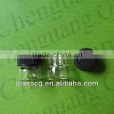 1ml pharmacy glass vials with screw plastic cap