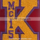 letters K custom embroidery chenille patches