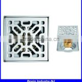 anti-odor rectangular shower stainless steel floor drain