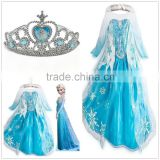 2015 best selling cheap elsa dress cosplay costume in frozen elsa dress wholesale CC-1694