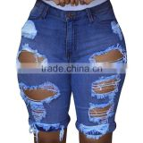 Light Blue Classic durable and soft High Waist skinny pocket patterns new pattern jeans                                                                         Quality Choice