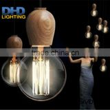 E27 Socket Pendant Light Suspension Drop Lamp Modern Vintage Edison Bulbs Bar Restaurant Muuto wood 110-220V Pendant Lamp