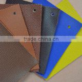 pvc pu embossed leather fabric for soccer ball, basketball