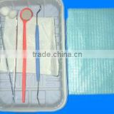 Disposable dental implant surgical exam kit