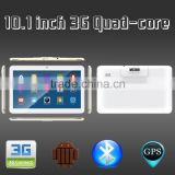 10.1 Inch Quad Core 3G Calling Dual SIM Android 4.4 Tablet PC with bluetooth and wifi GPS