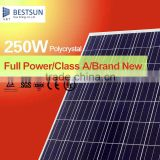 New Product Reliable Flexible Flexible Solar Panel A grade 250W poly pv solar panel Manufacturer in China