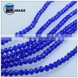 Blue color crystal beads hot selling glass beads faceted round beads for wedding clothes