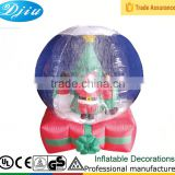 DJ-B-106 inflatable decoration christmas snow ball ornament caps outdoor