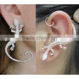 Wholesale Punk Style Alloy Gecko Earring Animal Ear Clip Ear Cuff