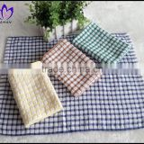 China supplier manufacturer cheap samll size loop pile 100%cotton yarn dyed gird terry towel