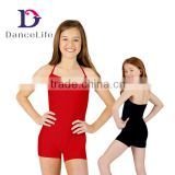 C2619 Wholesale Shorty camisole unitards ballet dance unitard kids gymnastic unitard