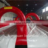 Inflatable double lanes slip n slide, water long slide with air mat                                                                         Quality Choice                                                                     Supplier's Choice