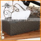 MG black ornaments fashion creative pumping tray Golden Queen Continental personality pu leather tissue boxes paper pumping box