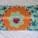 Suzani Embroidered Pillow Cover Decorative Pillow Case Indian Cushion Cover Manufactures