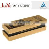 Long black ribbon sliding box sweet box champagne flute gift box with foam insert