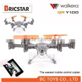 Walkera qr y100 six rotor drones for aerial photography, quadcopter with devo 4 transmitter rtf.
