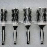 professional round ceramic thermal boar bristle hair brush