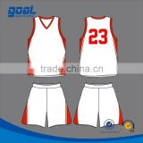 Digital printing red and white custom design school professional sublimation team basketball uniform                                                                         Quality Choice