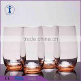 4pcs Gift Set Old fashion Hi-ball Glass Cup with color base                                                                         Quality Choice