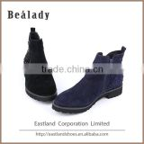 (E1621H-7) Lady leather shoes sheep suede sexy short ankle boots with crystal diamond metal zipper EVA sole