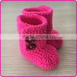 Fashion girls crochet booties handmade crochet baby shoes knitted baby booties