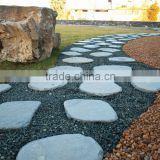 erosion resistance antacid natural China black irregular random shaped tumbled stone outdoor slate stepping stones
