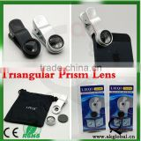 special gifit hot new product for 2015 Triangular Prism Lens with Clip for Mobile Phone Camera