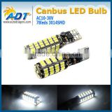 Canbus error free T10 W5W 194 168 501 Car White 78 3014 SMD LED Inverted Side Wedge Light Bulb