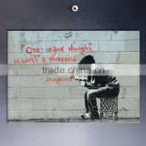 Wholesale banksy wall sticker for bedroom and living room decorative