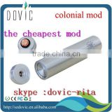 Magnet /spring switch ,copper contact e cig mod aluminum colonial mod with factory price