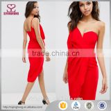 2016 fashion new lastest red one shoulder sexy dresses                                                                                                         Supplier's Choice