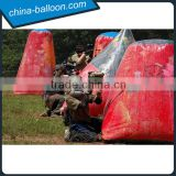 outdoor inflatable obstacles paint game,inflatable air bunker for game