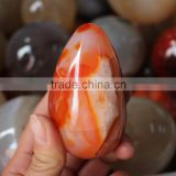 bulk of hand carved natural polished agate eggs