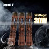 Best e cig battery Wood Carving Kamry Legend V full mechanical mod with led screen