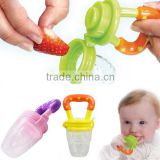 eco-friendly medical food grade funny silicone fruit pacifier for baby