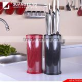 5 pcs stainless steel hollow handle kitchen knife set with acrylic utility block block