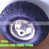 high quality hand trolley air rubber wheels 350-4