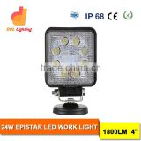 IP68 24W Square work light FOR offroad vehicles and construction equipment work light LED LIGHT working for cars