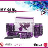MY GIRL Newest professional wholesale curl thermal ceramic round ionic high quality hair brush