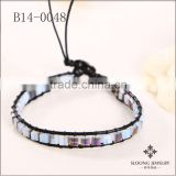 Beads jewelry in Fashion Accessories Design Services with black leather bracelets,black cord and square jade