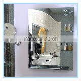 HZ professional manufacture provide source of smart frameless double layer bathroom mirror with glass shelf