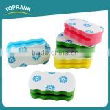 Toprank Printed Colorful Kitchen Cleaning Abrasive Dish Washing Scouring Pad Grooved Sponge Scouring Pad