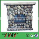 Fashion nature fiberglass resin used electric fireplace