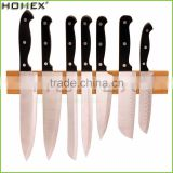 Magnetic Knife Strip Bar in Eco-Friendly Bamboo/Wall Mounted Knife Holder/Homex_FSC/BSCI Factory