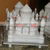Handcrafted Marble Taj Mahal Replica Handcrafted